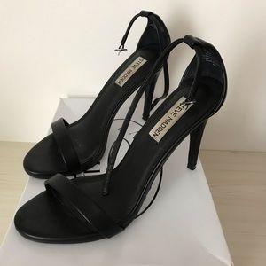 Steven Madden Stecy Black Strap heel Sandal 8.5